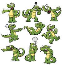 卡通鳄鱼素材