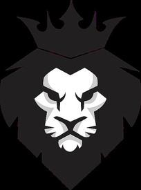动物狮子皇冠logo