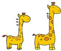 长颈鹿卡通