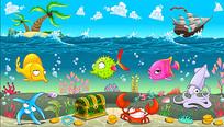 海洋世界卡通