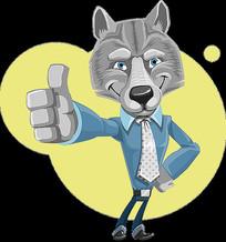 狼人商务形象手势好