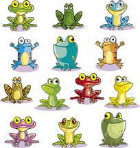 青蛙卡通素材
