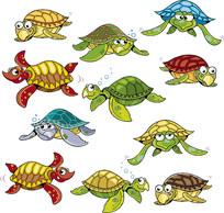 海龟卡通素材