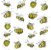 蜜蜂卡通素材