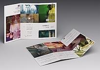 时尚主题瑞丽女性商业通用三折页宣传单单页内外页展示样机贴图