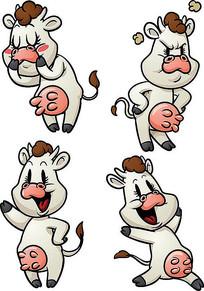 卡通奶牛素材