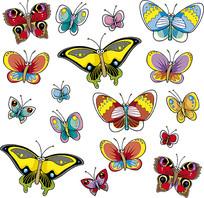 蝴蝶矢量素材