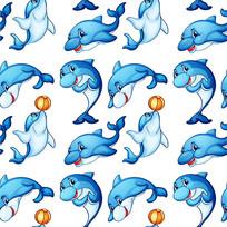 卡通海豚素材
