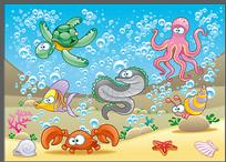 海洋动物卡通素材