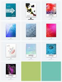 科技感画册封面设计eps
