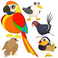 卡通鸟类素材