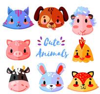 可爱卡通动物头像