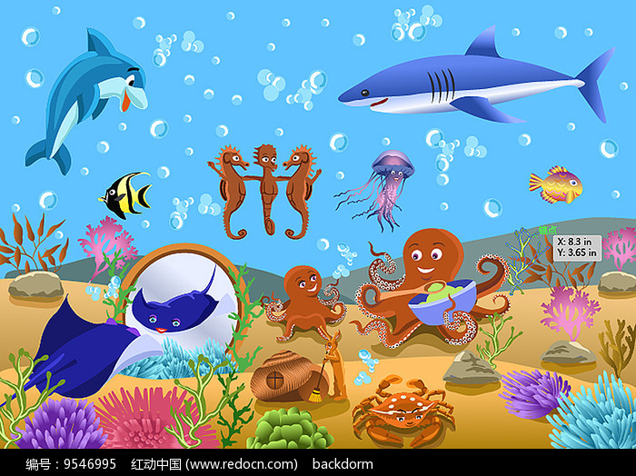 红动网提供水中动物精美素材免费下载,您当前访问素材主题是海洋动物图片