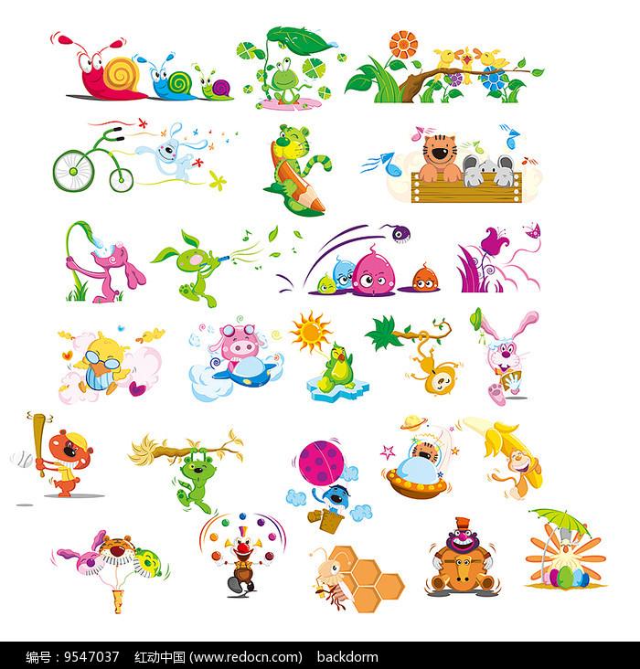 卡通动物形象素材图片