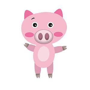 可爱小猪卡通形象
