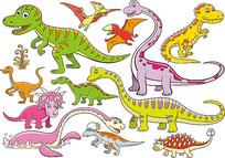 卡通恐龙素材