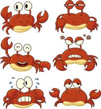 卡通螃蟹素材