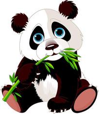 可爱熊猫素材