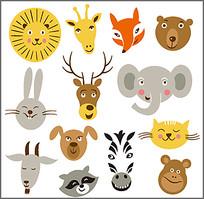 卡通动物头像素材