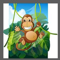 卡通猴子素材