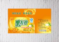 果粒橙饮料包装箱设计
