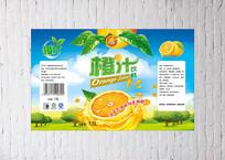 橙汁瓶贴设计
