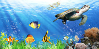 海底世界矢量素材