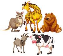 卡通动物素材合集