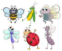 卡通昆虫素材