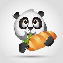 卡通熊猫头像素材