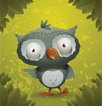 猫头鹰卡通素材