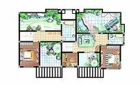 别墅户型平面图模板