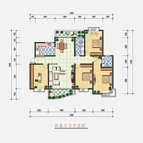 三室一厅平面户型图