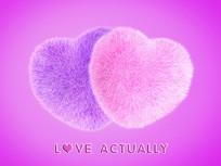 粉色毛绒爱心