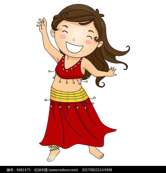 开心跳舞的小女孩图片