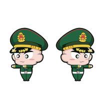绿色军装在执勤