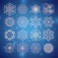 雪花花纹图案