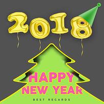 2018圣诞节新年元旦素材