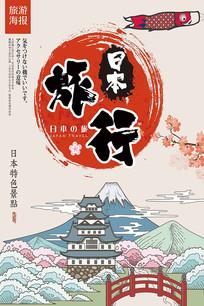 卡通日本旅游海报