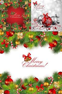 圣诞节精美装饰品背景矢量