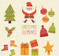 圣诞节设计元素矢量素材