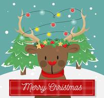 圣诞驯鹿麋鹿