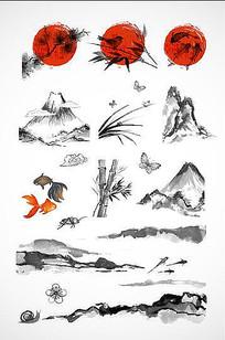中国风水墨矢量素材