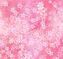粉色樱花无缝背景矢量素材