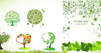 绿色植物素材背景