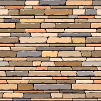 石砖墙矢量图案