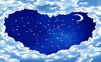 心形夜空背景设计