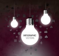 明亮灯泡商务信息图矢量素材