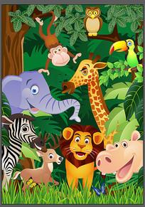 森林动物卡通