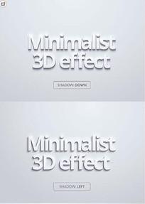 3D立体英文字体样式PSD